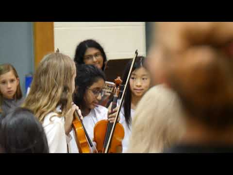 Wolftrap elementary school grade 6 orchestra winter concert 2019