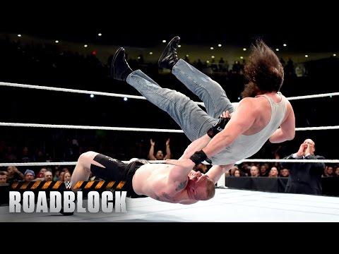 WWE Network: Brock Lesnar vs. Bray Wyatt & Luke Harper - 2-on-1 Handicap Match: WWE Roadblock 2016 thumbnail