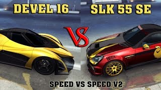 Asphalt 8 - DEVEL 16 vs SLK 55 SE (Speed Battle Tokyo Rev)