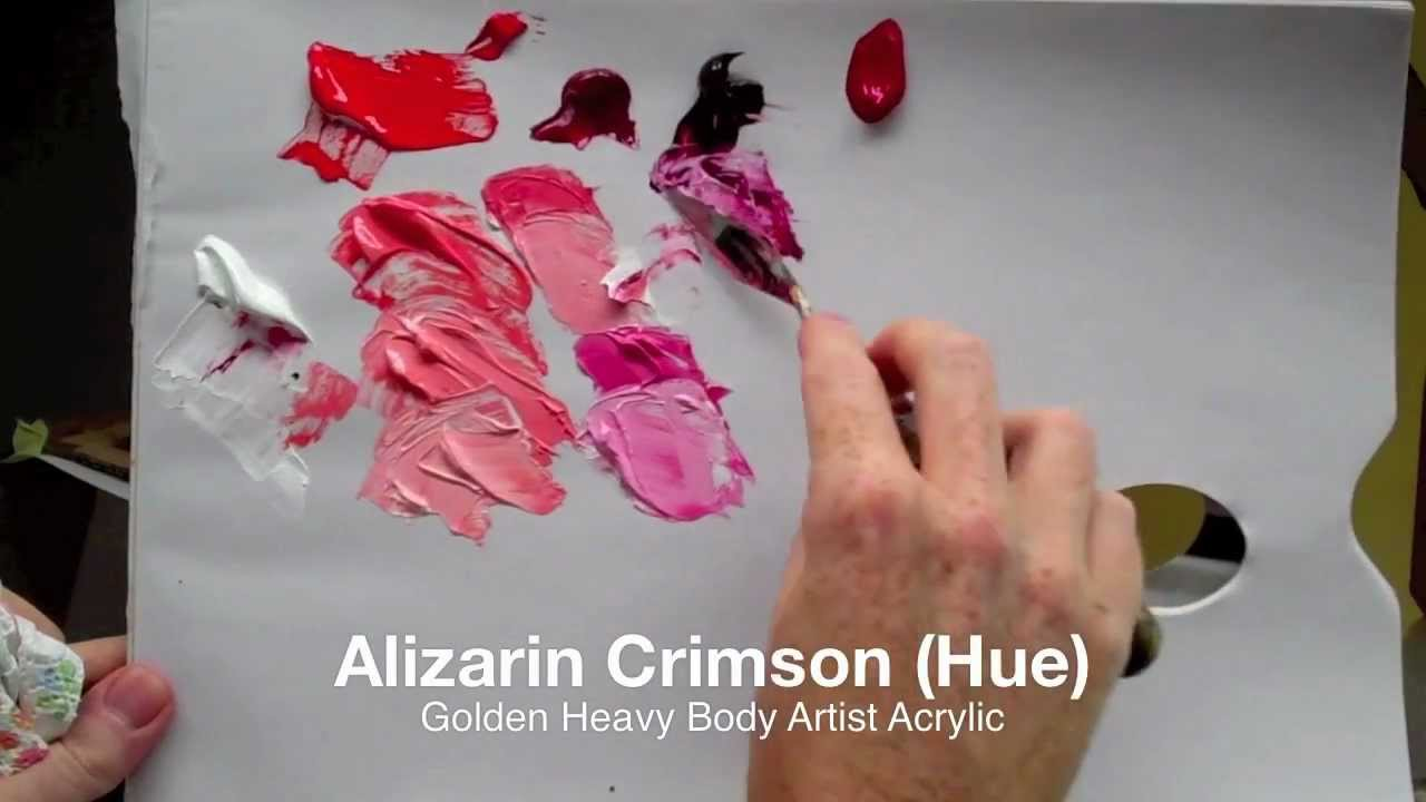 How To Mix Bright Pink With Acrylic Paint Colour Mixing Basics Acrylics Part 1 Of 2 You