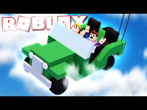 SURVIVE A ROBLOX CAR FALLING THROUGH THE SKY!