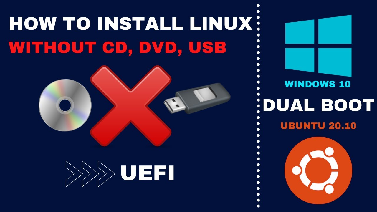How to Install linux without cd or usb  Dualboot  UEFI  Step By Step  (12)