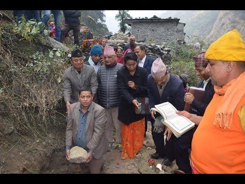 पोखरेबगर चित्रे सडकको यसरी सुरु गरियो स्तरोन्नती/ Annapurna rural municipality