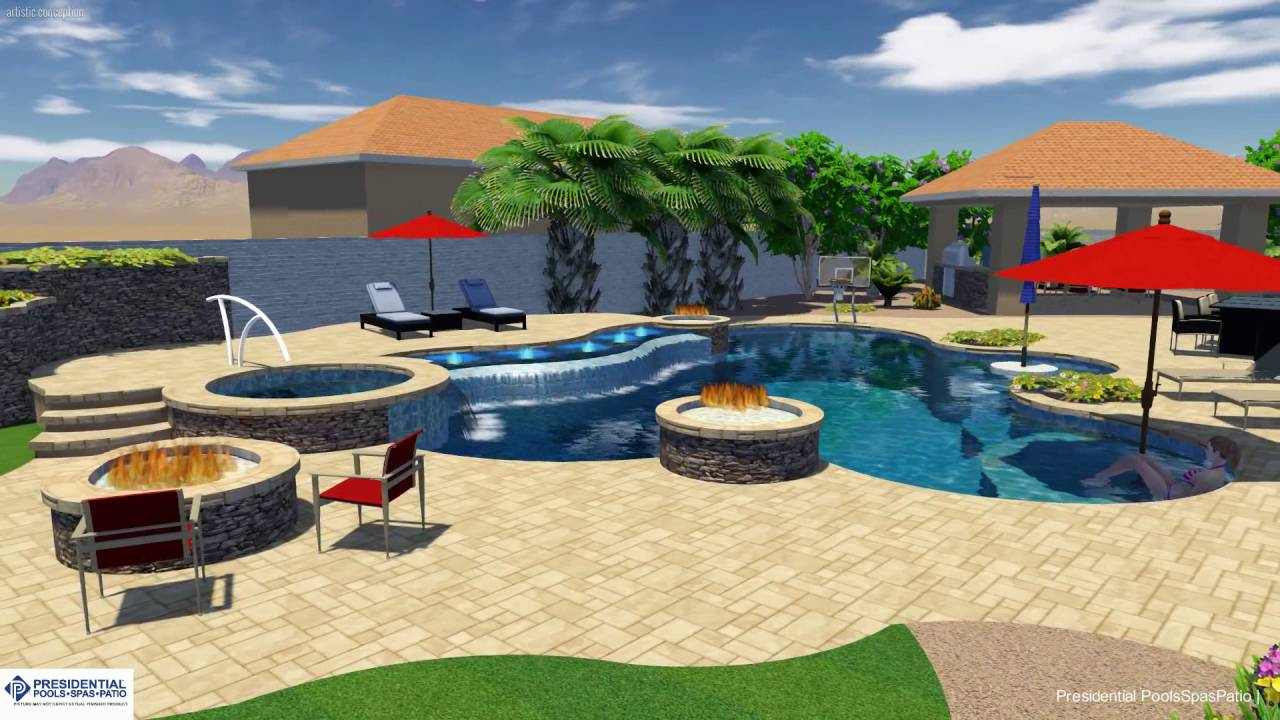 Nykyforuk Backyard Design Concept By Kip Williams At Presidential Pools Spas And Patio