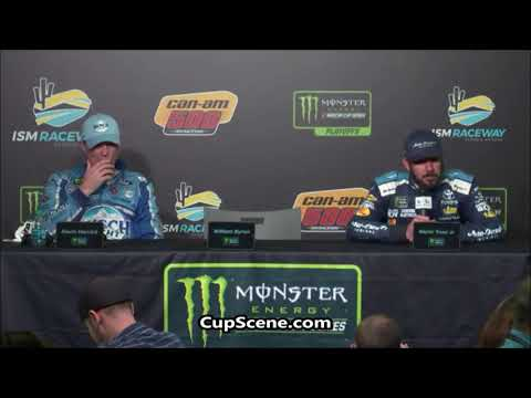 NASCAR at ISM Raceway Nov. 2018: Kevin Harvick, Martin Truex Jr. post race
