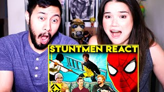 CORRIDOR CREW (VFX Artists) w/ JABY'S FRIEND! | Stuntmen React To Bad & Great Hollywood Stunts
