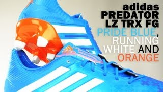 adidas Predator LZ TRX Firm Ground Soccer Cleats- Pride Blue and White Unboxing