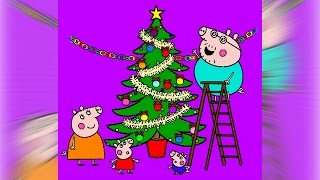 Peppa Pig Coloring Pages Coloring Book - Peppa Pig Christmas Tree Coloring