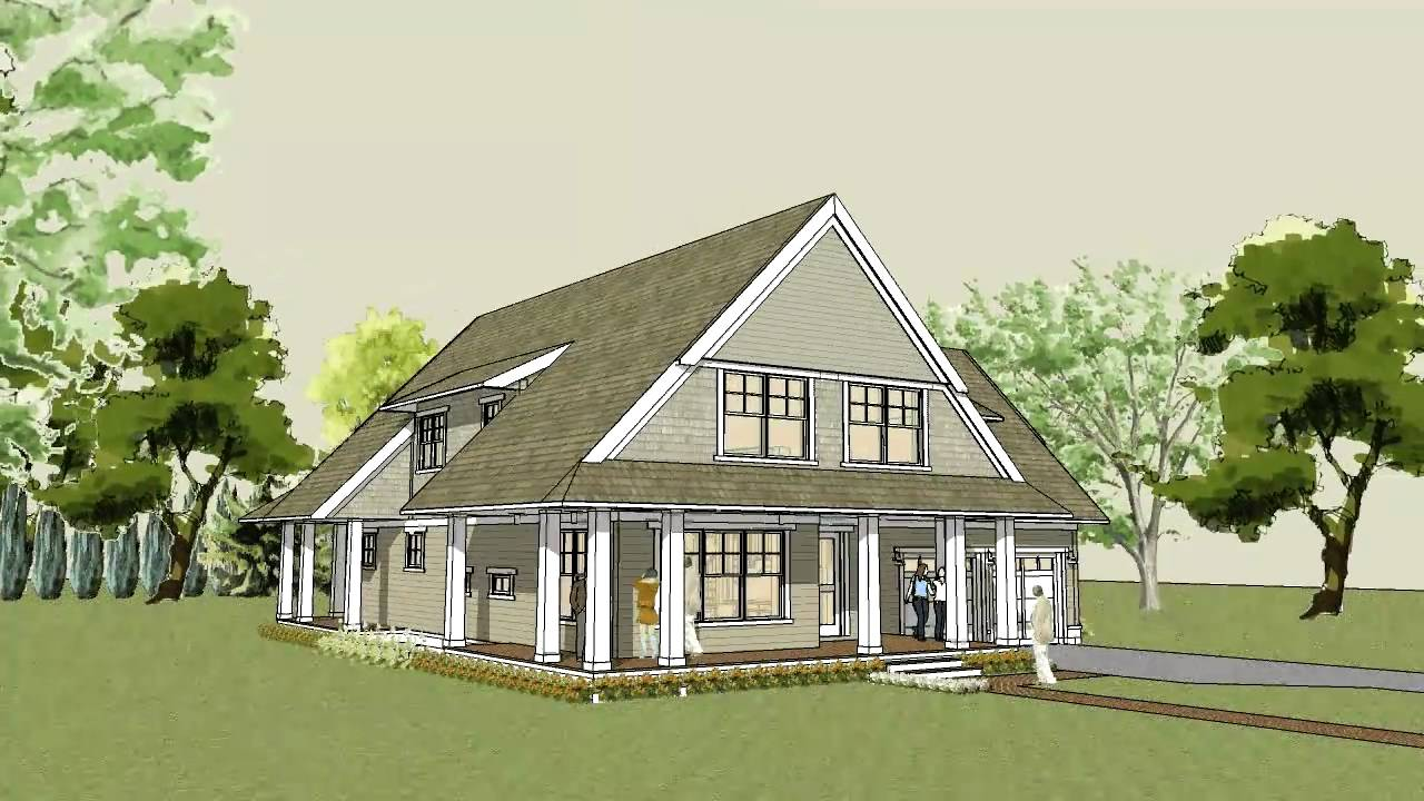 Simple unique modern cottage house plan Afton Cottage