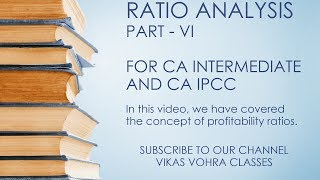 CA Intermediate (IPCC) | Ratio Analysis | Part VI