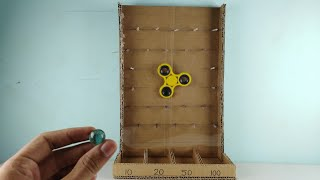 How to make marble game from cardboard