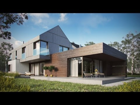 Modern single family house by krzysztof kowal youtube for Modern single family homes