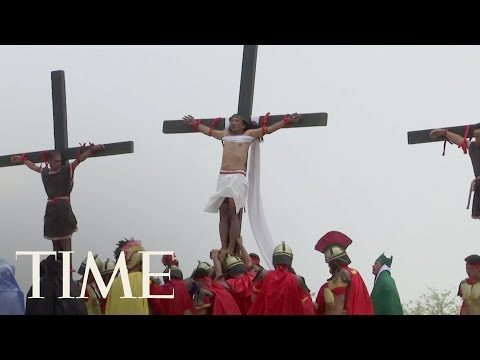 Catholic Devotees Were Nailed To Crosses For Good Friday In The Philippines | TIME