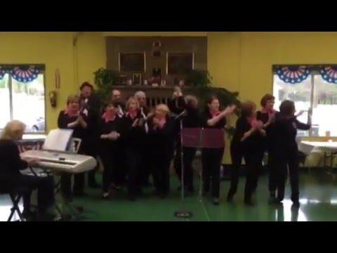 """""""Wildcats"""" senior chorus rocking it up at Camp Hope . May 2016"""