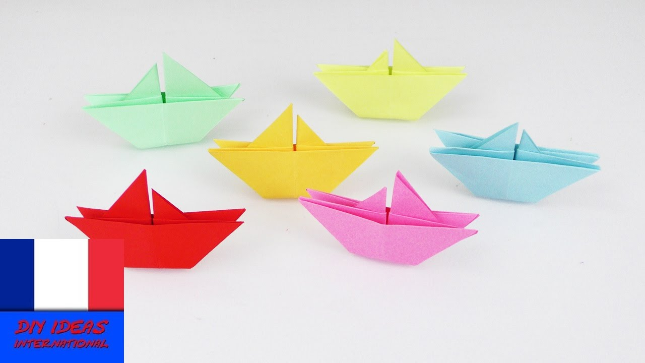 Faire Des Bateaux En Papier Super Simple A Realiser Et Super Idee Deco Instructions Youtube