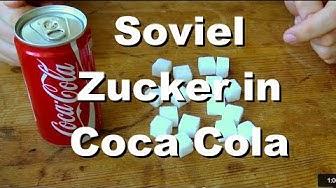 Wieviel Zucker ist in Coca Cola? Zuckerwürfel-Pyramide