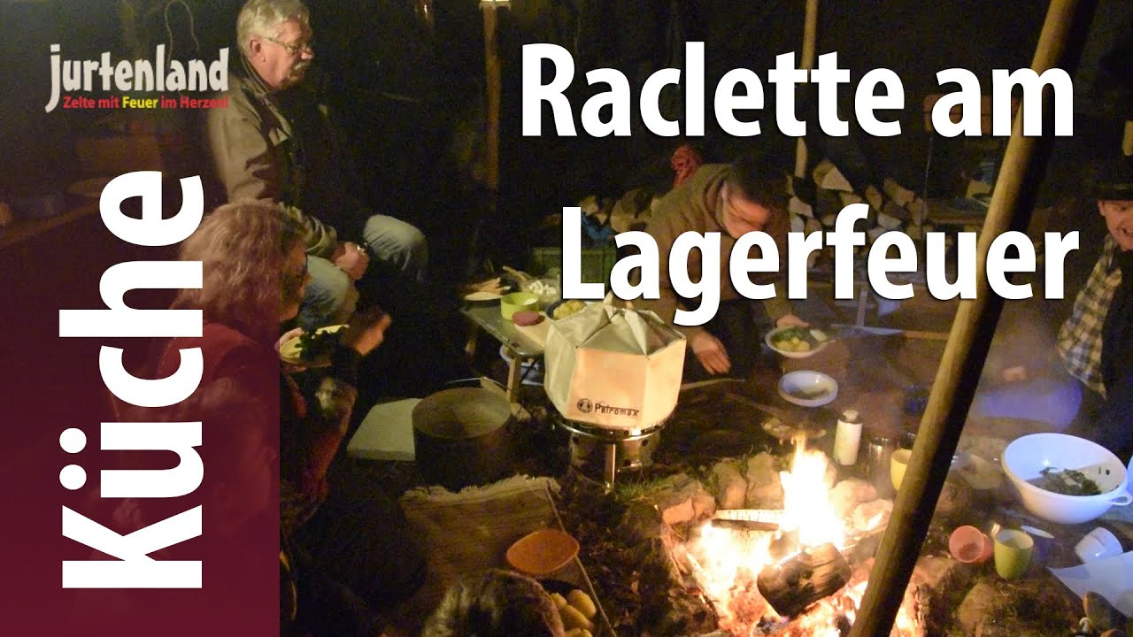 kochen am lagerfeuer raclette jurtenland youtube. Black Bedroom Furniture Sets. Home Design Ideas