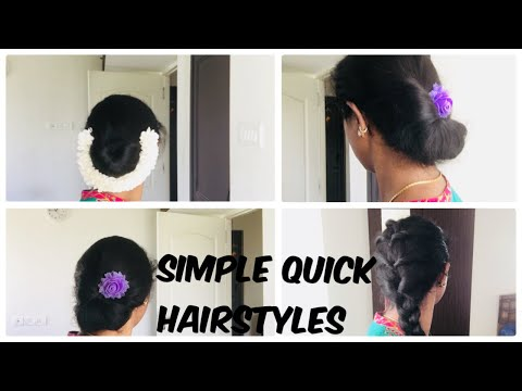 Simple Dewali Festive Hairstyles With Jasmine Flower For Saree Part2