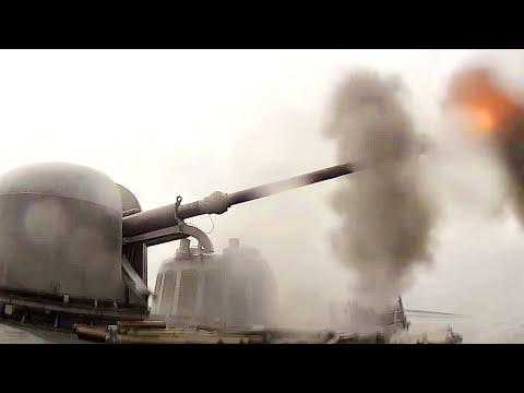 RAPID-FIRE POWER! U.S. Navy GUN in ACTION! (MK 75 76mm/3-inch gun.)