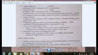 correction d'examen fiscalité s.o 2018//2019 prof  H.ELFATHAOUI, Ait Malloul