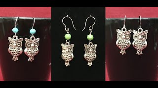 DIY Cute Owl Earrings