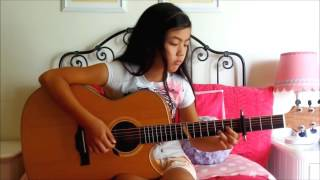 Amazing Little Girl Play Fingerstyle Guitar Acoustic