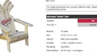 Adirondack Hockey Stick Chairs Wood Wooden Customized Promotional