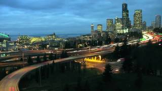 TIMELAPSE SEATTLE NIGHT AND DAY -- IN GORGEOUS HD