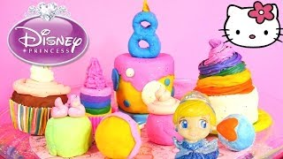 Surprise Toys Play Doh Sweet Shoppe Cupcakes Cake Pops Disney Princess Hello Kitty Lps