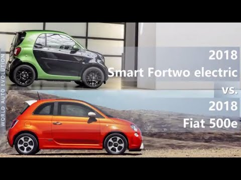 2018 Smart Fortwo electric vs 2018 Fiat 500e (technical comparison)