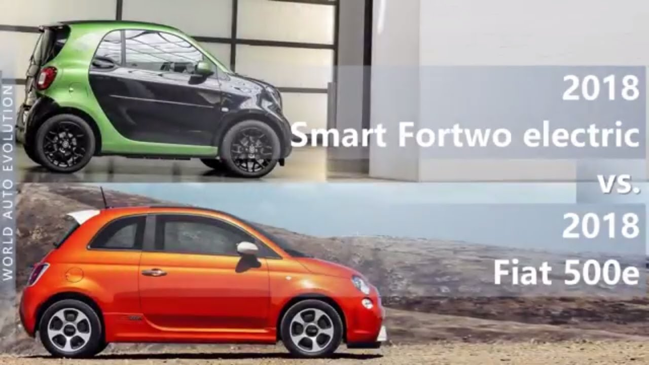 2018 Smart Fortwo Electric Vs Fiat 500e Technical Comparison