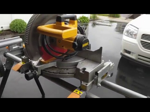 Harbor Freight Heavy Duty Moblie Miter Saw Stand Review