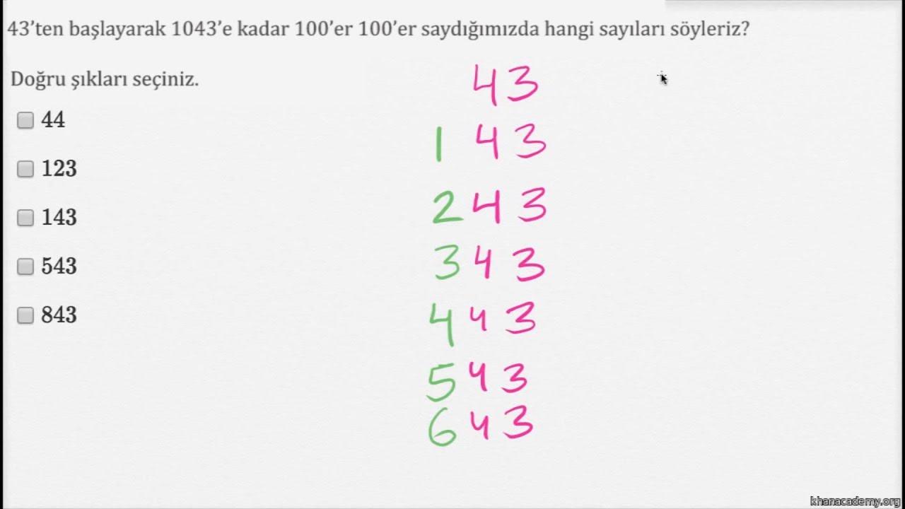 Ritmik Sayma Yuzer Yuzer Okul Oncesi Matematik Youtube