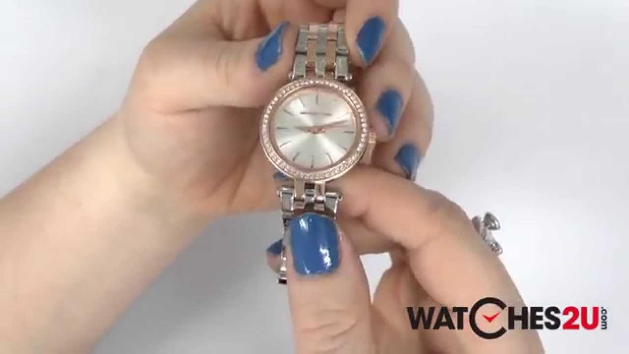 04f781102056 MK3298 Michael Kors Ladies Darci Two Tone Watch - YouTube