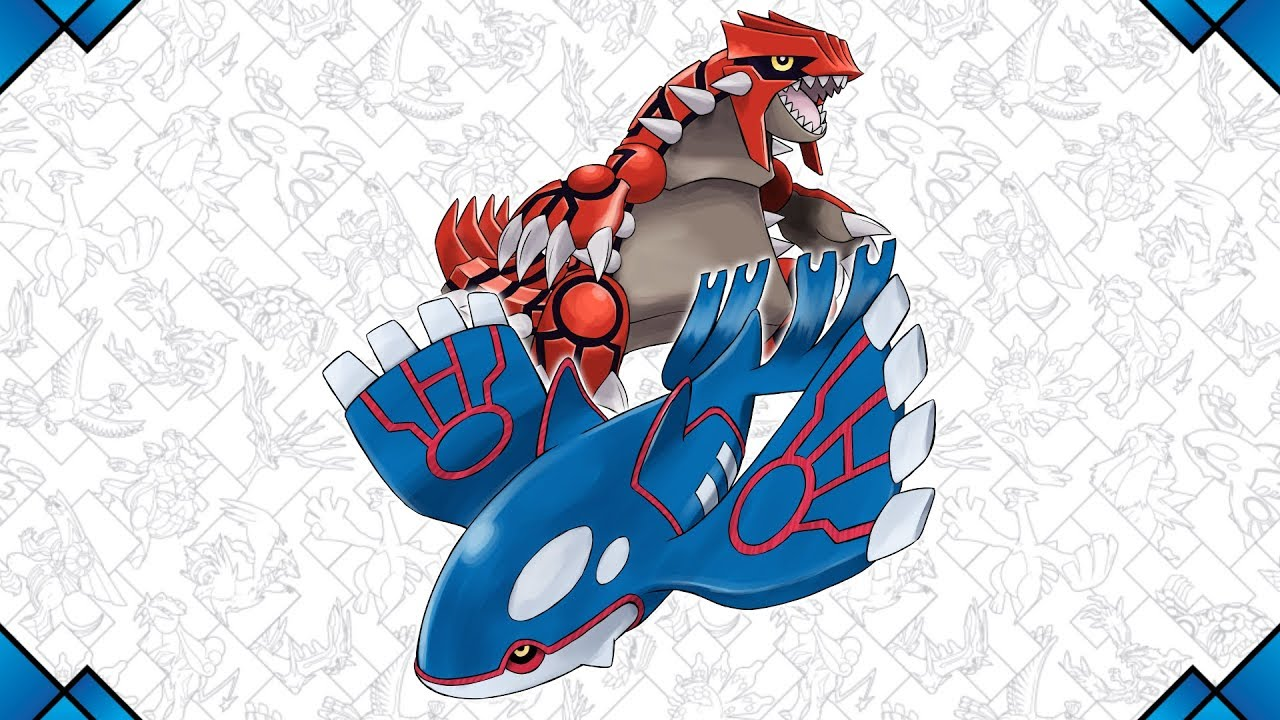 Kyogre and groudon await you in august youtube - Pictures of groudon and kyogre ...
