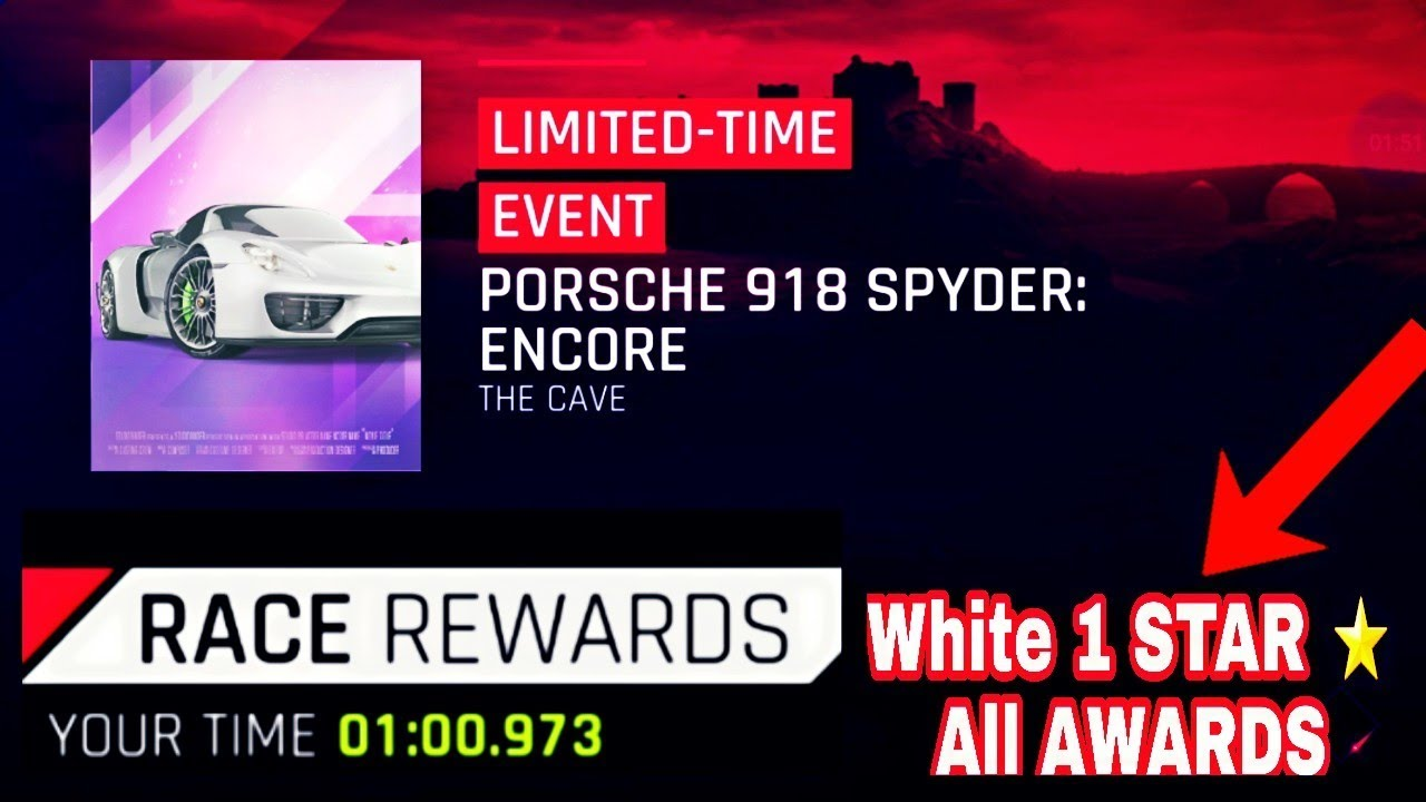 Asphalt 9 Porsche 918 Spyder Encore White 1 Star All Blueprints