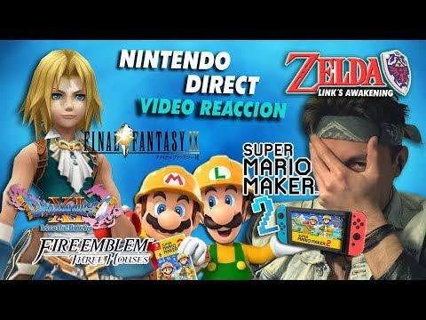 NINTENDO DIRECT 2019 Video Reacción y Resumen / Mario Maker 2 - Final Fantasy 9- Zelda