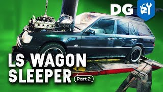 ENGINE DRY FIT: LS Swap in a Mercedes AMG Wagon (Part 2)