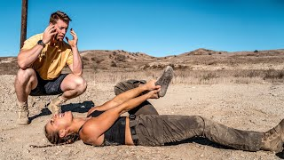 I BROKE MY ANKLE ATTEMPTING MILITARY OBSTACLE COURSE | Demi Bagby & Austen Alexander