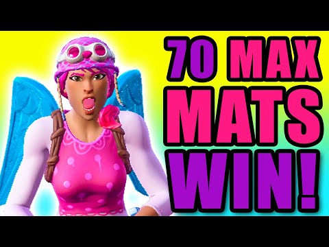 Winning Fortnite w/ 70 Max Mats! (Ground Game)