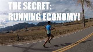 THE MOST IMPORTANT FACTOR IN DISTANCE RUNNING SUCCESS: RUNNING ECONOMY | Sage Canaday Training Tips