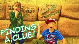 Mr. E Sends us to Find Clues at a Dinosaur Museum! Mysterious Adventure! / The Beach House!