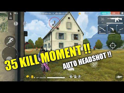 AUTO HEADSHOT NO BANED! |BEST 35 KILL MOMENT !!! -Garena Free Fire