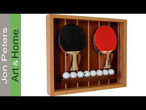 Woodworking Project Make A Table Tennis Paddle Ball Holder Youtube