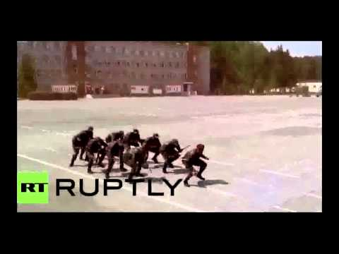 Mozambique soldiers dancing in Russia