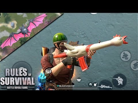 Rubber Chicken Gun Skin + First Animated Parachute in Rules of Survival