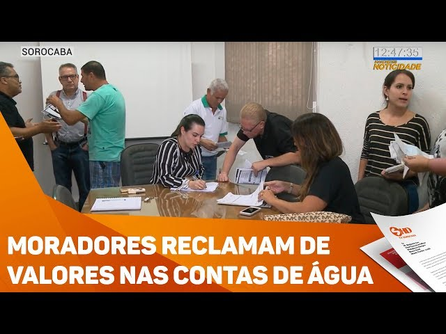 Moradores reclamam de valores nas contas de água - TV SOROCABA/SBT
