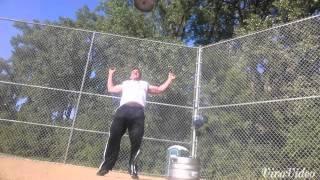 Tim Kovach keg toss practice