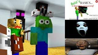 - Monster School THE MOBS VS BALDI BASIC S GRANNY HORROR GAMES SLENDRINA Minecraft Animation
