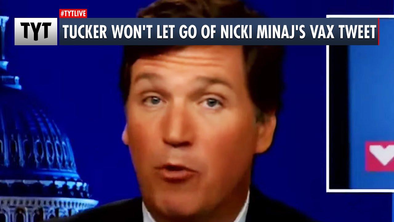Tucker Carlson's OBSESSED With Nicki Minaj's Vax Tweet